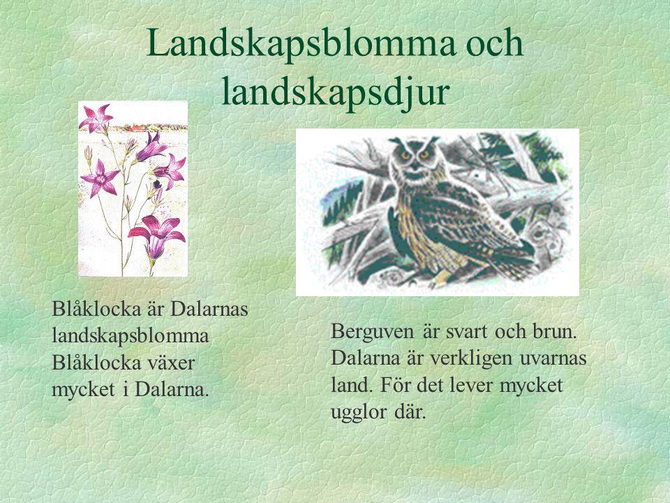 Landskapsblomma och landskapsdjur