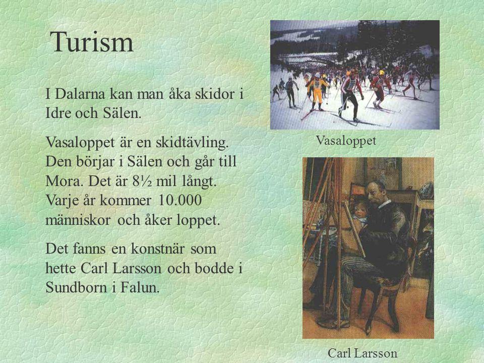 Turism I Dalarna kan man åka skidor i Idre och Sälen.