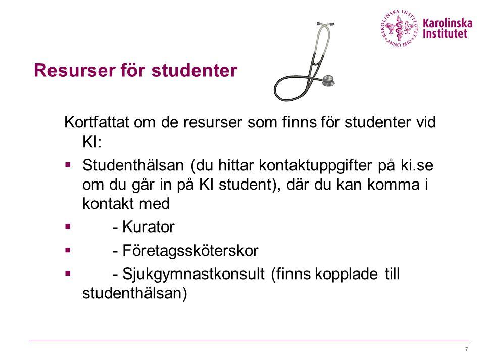 Resurser för studenter