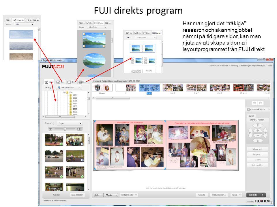 FUJI direkts program