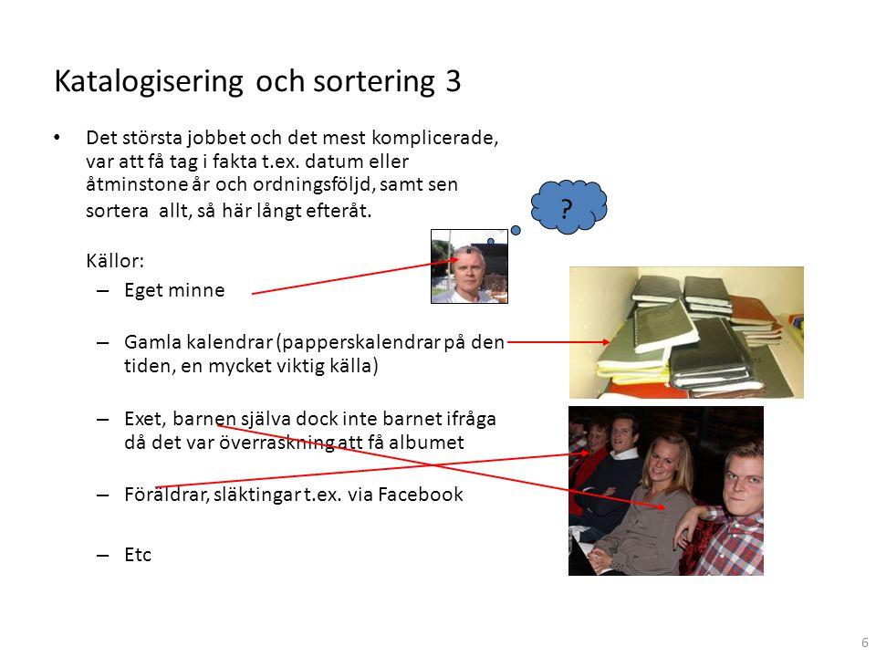 Katalogisering och sortering 3