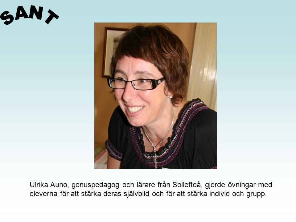SANT Ulrika Auno, genuspedagog och lärare från Sollefteå, gjorde övningar med.
