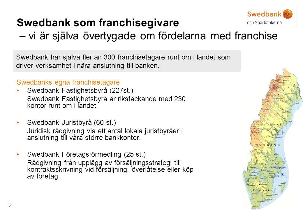 Swedbank som franchisegivare – vi är själva övertygade om fördelarna med franchise
