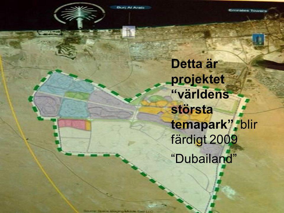 Detta är projektet världens största temapark , blir färdigt 2009