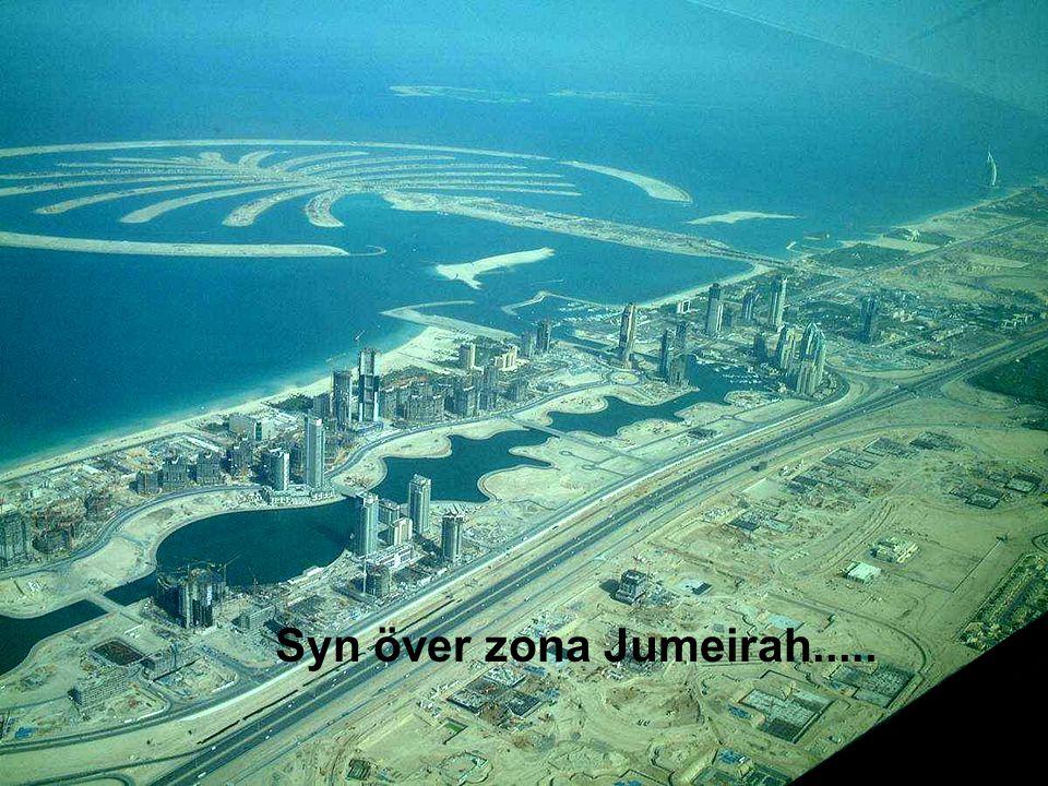 Syn över zona Jumeirah.....