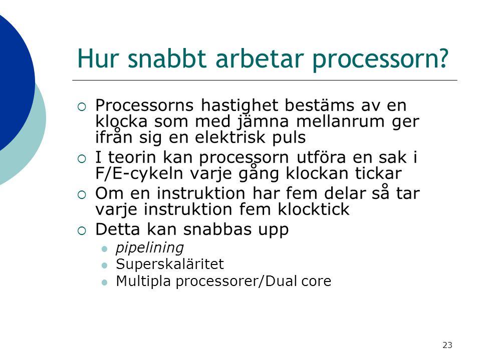 Hur snabbt arbetar processorn
