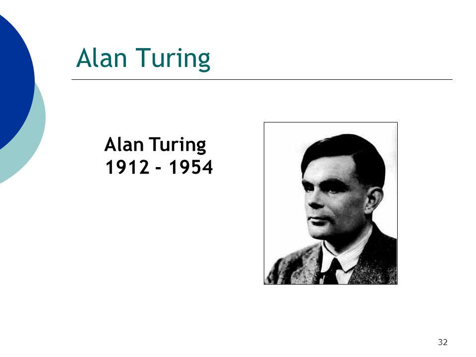 Alan Turing Alan Turing 1912 - 1954