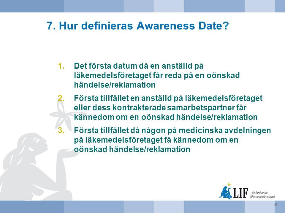 7. Hur definieras Awareness Date