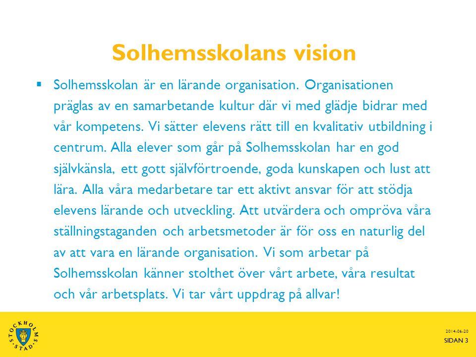 Solhemsskolans vision