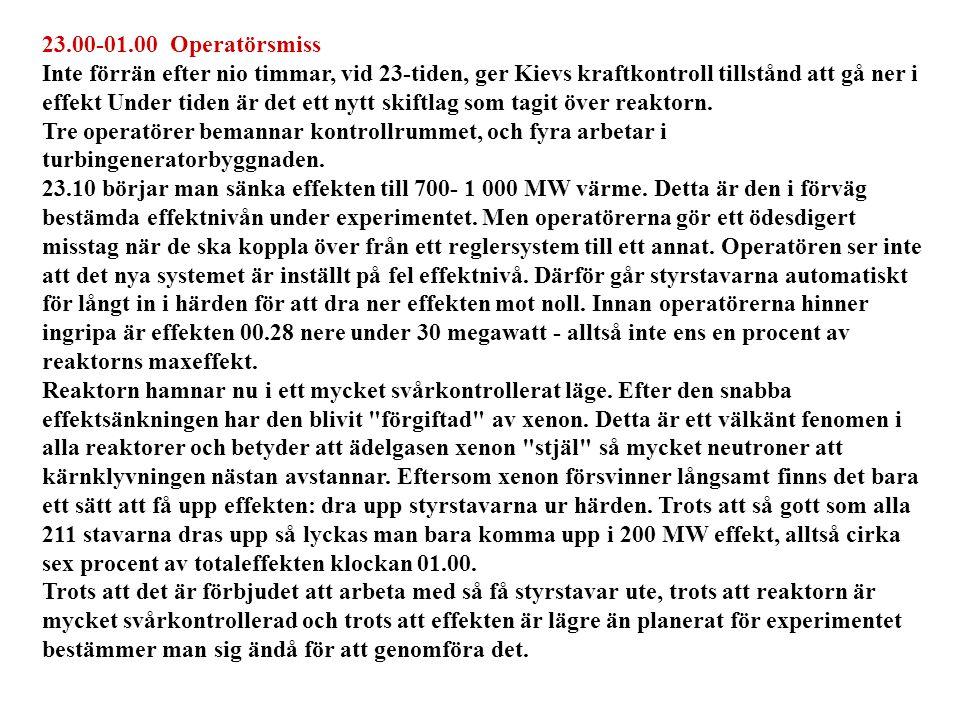 23.00-01.00 Operatörsmiss