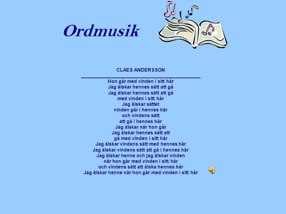 Ordmusik CLAES ANDERSSON _____________________________________________