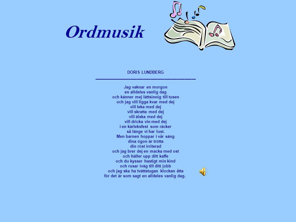 Ordmusik DORIS LUNDBERG _____________________________________________