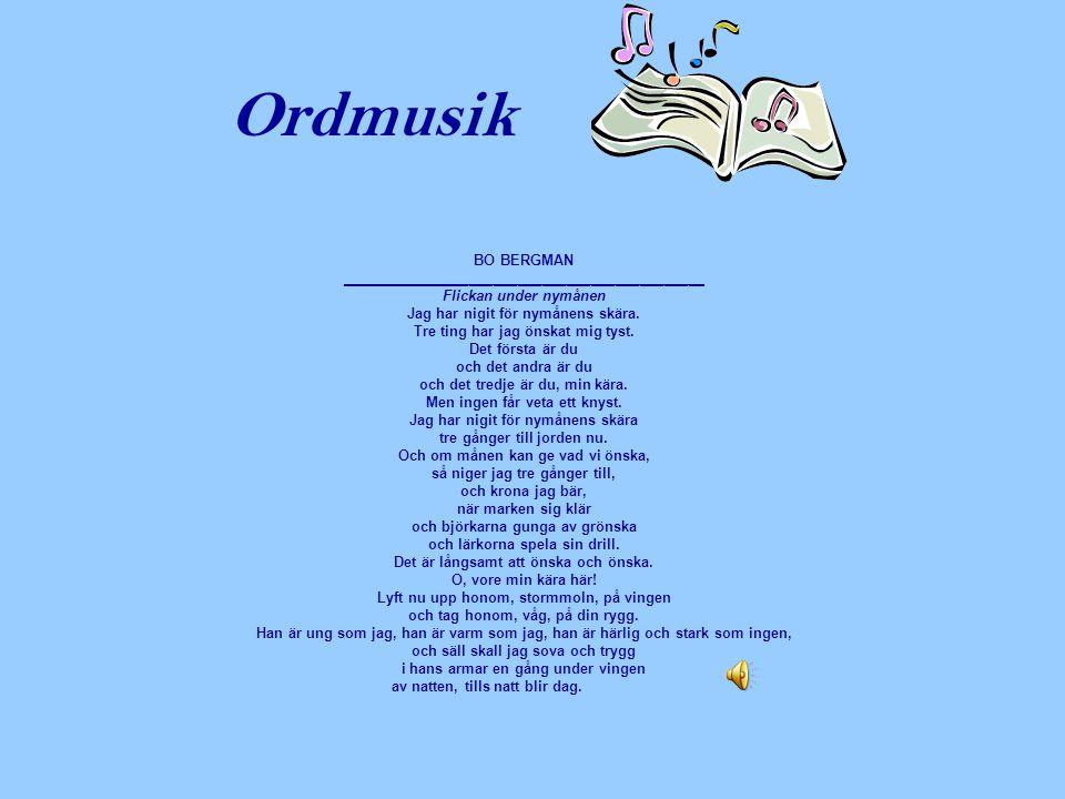 Ordmusik BO BERGMAN _____________________________________________