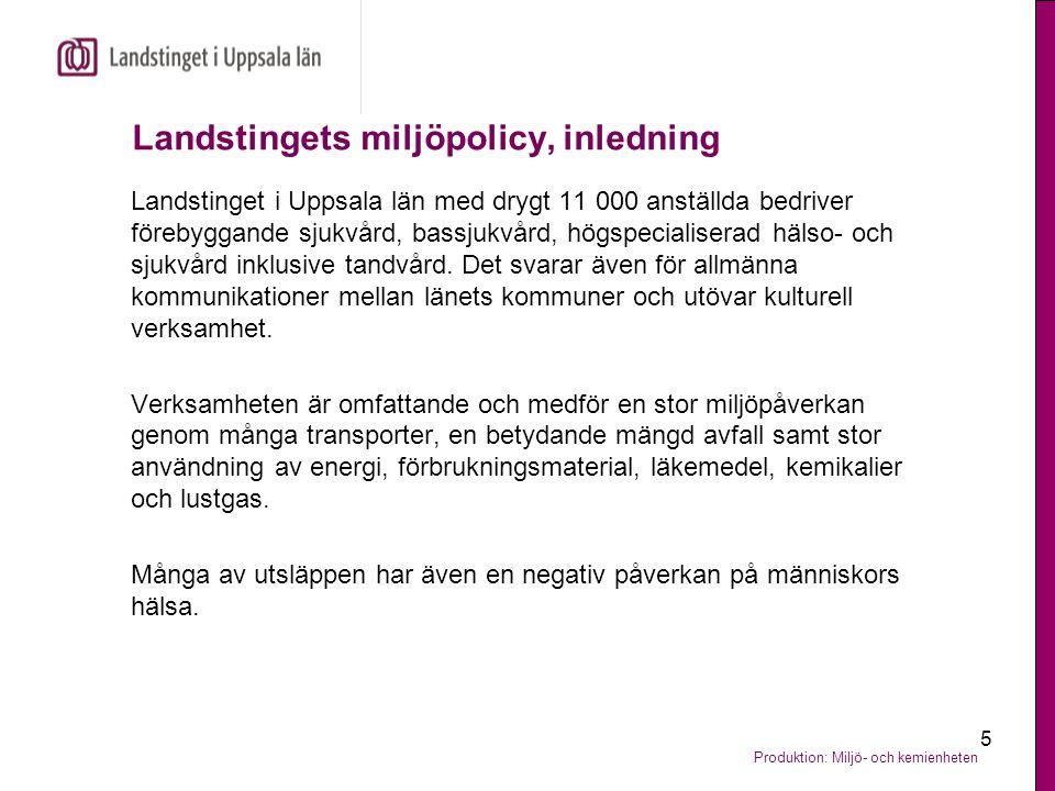 Landstingets miljöpolicy, inledning