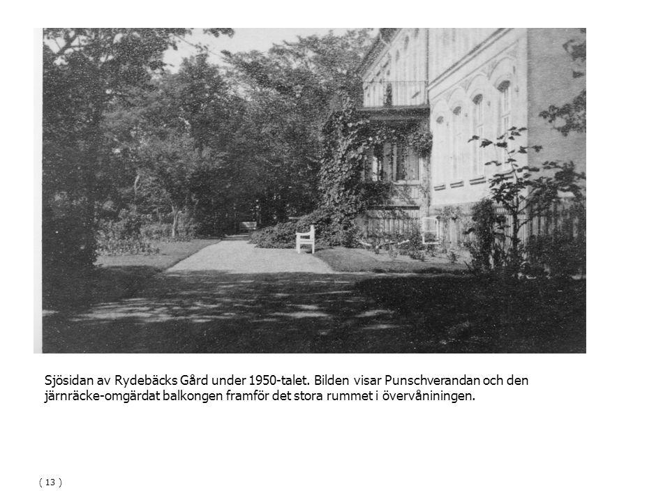 Sjösidan av Rydebäcks Gård under 1950-talet