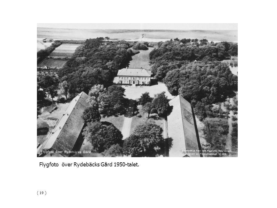 Flygfoto över Rydebäcks Gård 1950-talet.