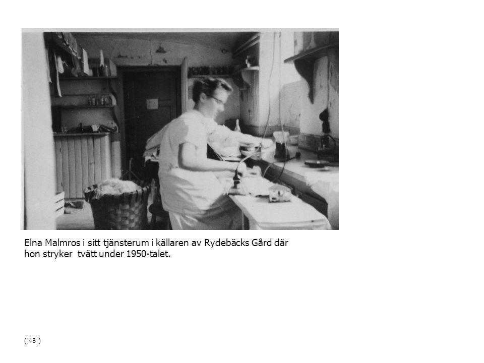 Elna Malmros i sitt tjänsterum i källaren av Rydebäcks Gård där