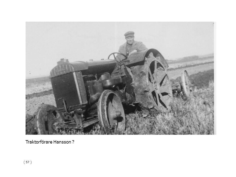 Traktorförare Hansson