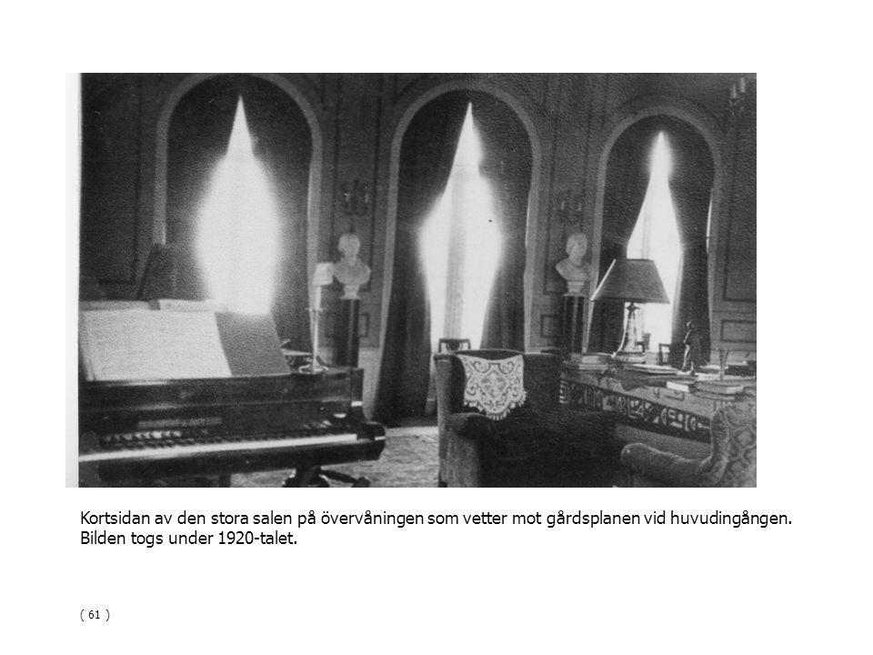 Bilden togs under 1920-talet.