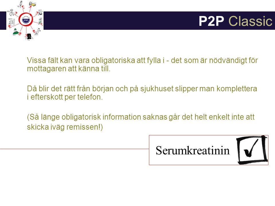 P2P Classic Serumkreatinin