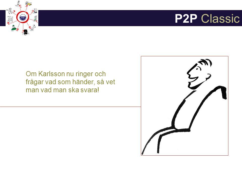 P2P Classic Om Karlsson nu ringer och frågar vad som händer, så vet man vad man ska svara!