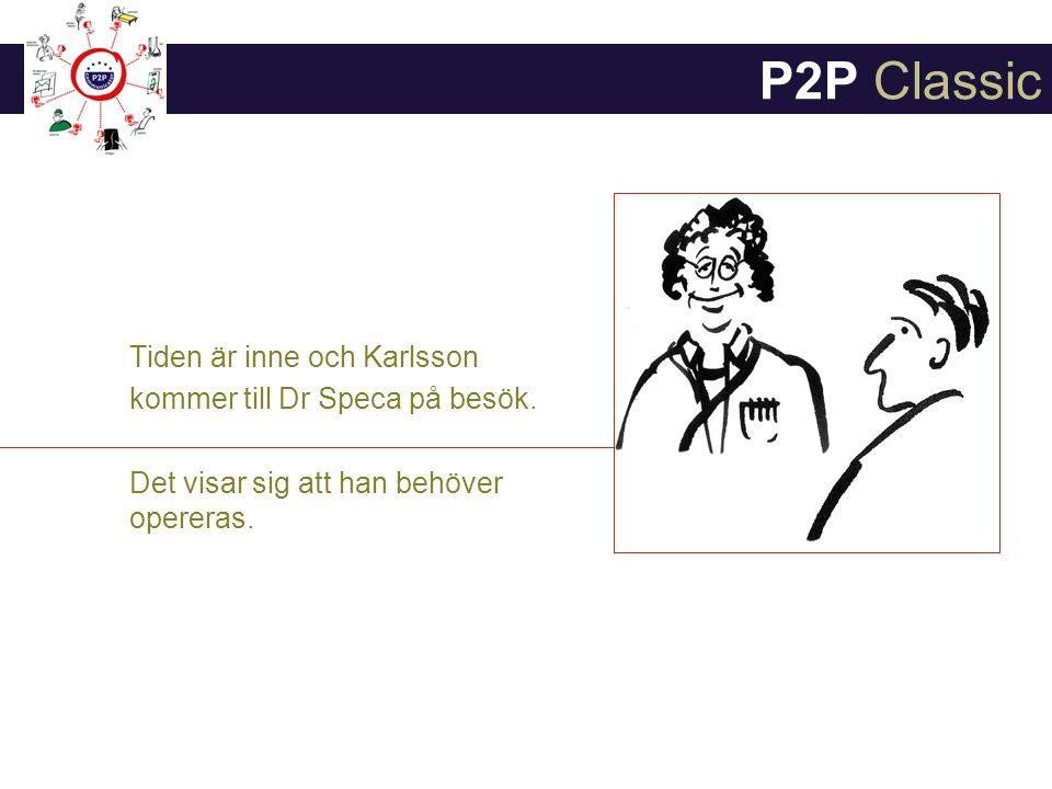 P2P Classic Tiden är inne och Karlsson kommer till Dr Speca på besök.
