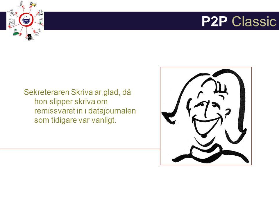 P2P Classic Sekreteraren Skriva är glad, då hon slipper skriva om remissvaret in i datajournalen som tidigare var vanligt.