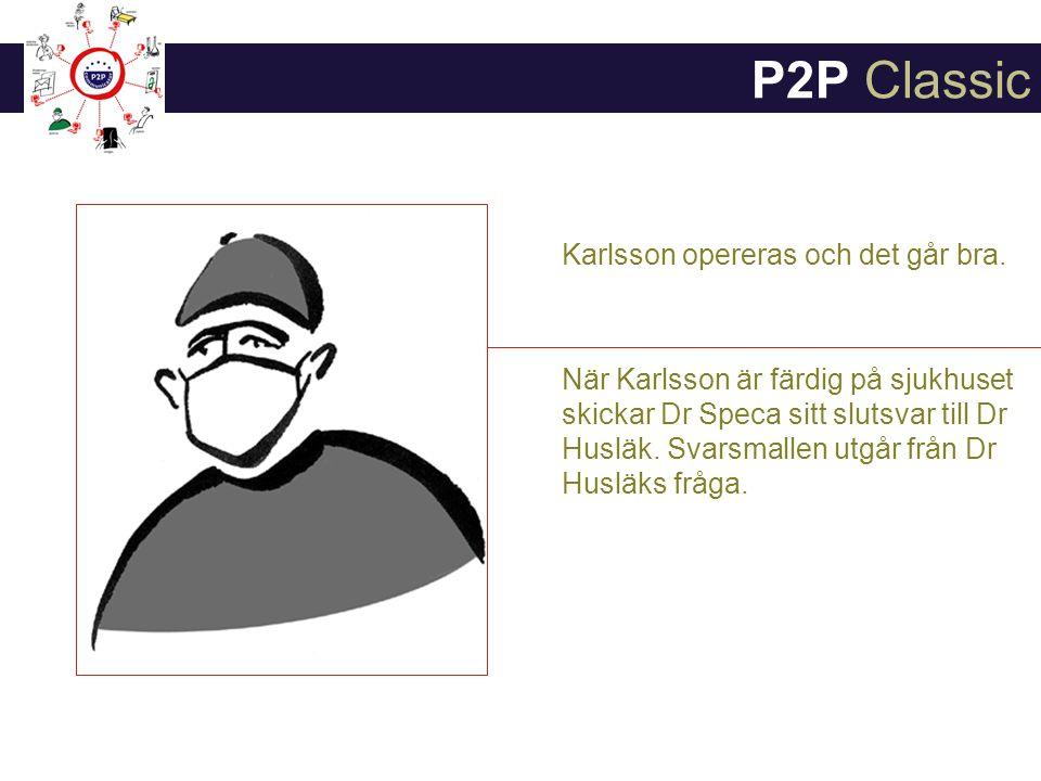 P2P Classic Karlsson opereras och det går bra.