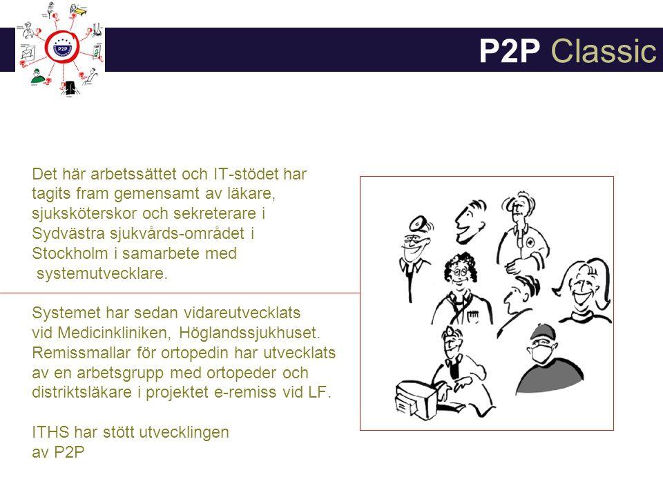 P2P Classic Det här arbetssättet och IT-stödet har