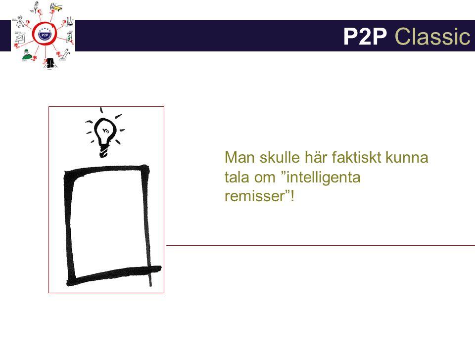 P2P Classic Man skulle här faktiskt kunna tala om intelligenta remisser !