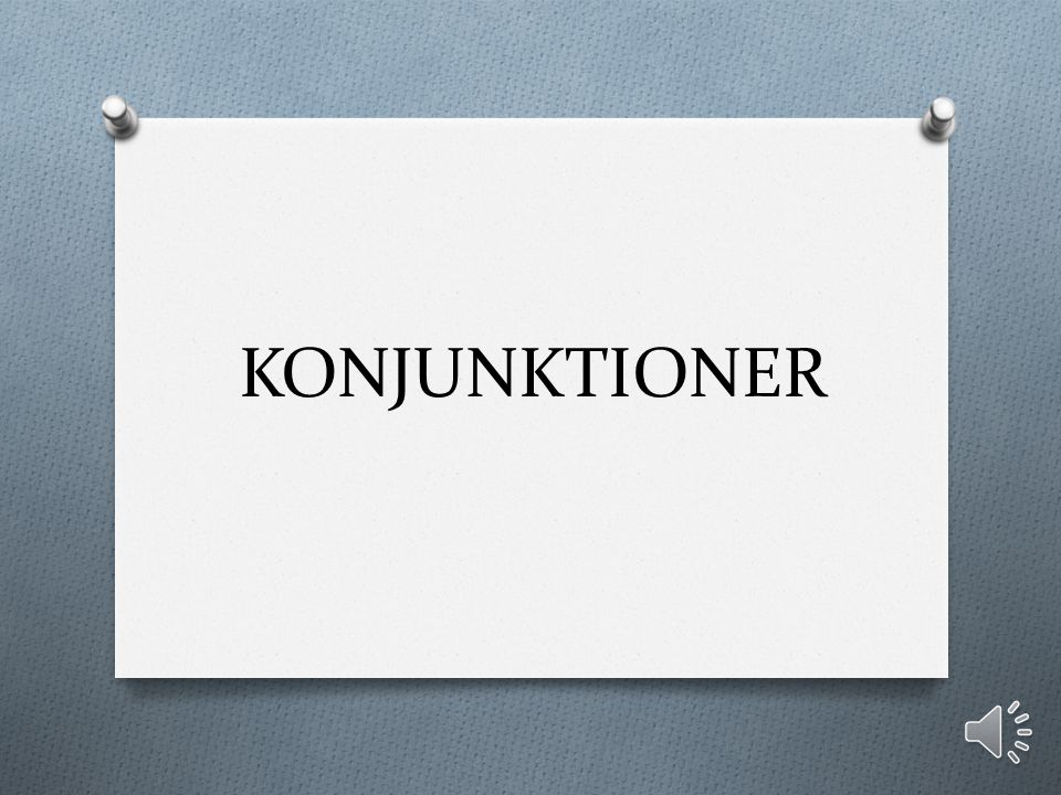 KONJUNKTIONER