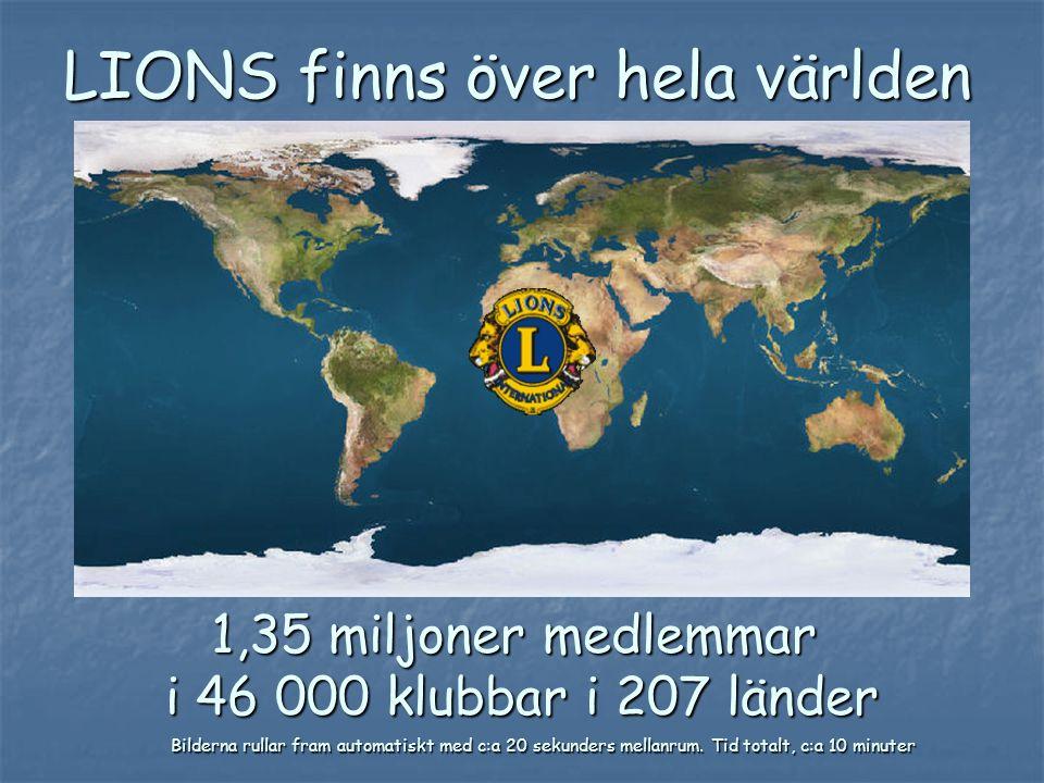 LIONS finns över hela världen
