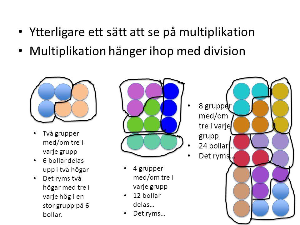 Ytterligare ett sätt att se på multiplikation