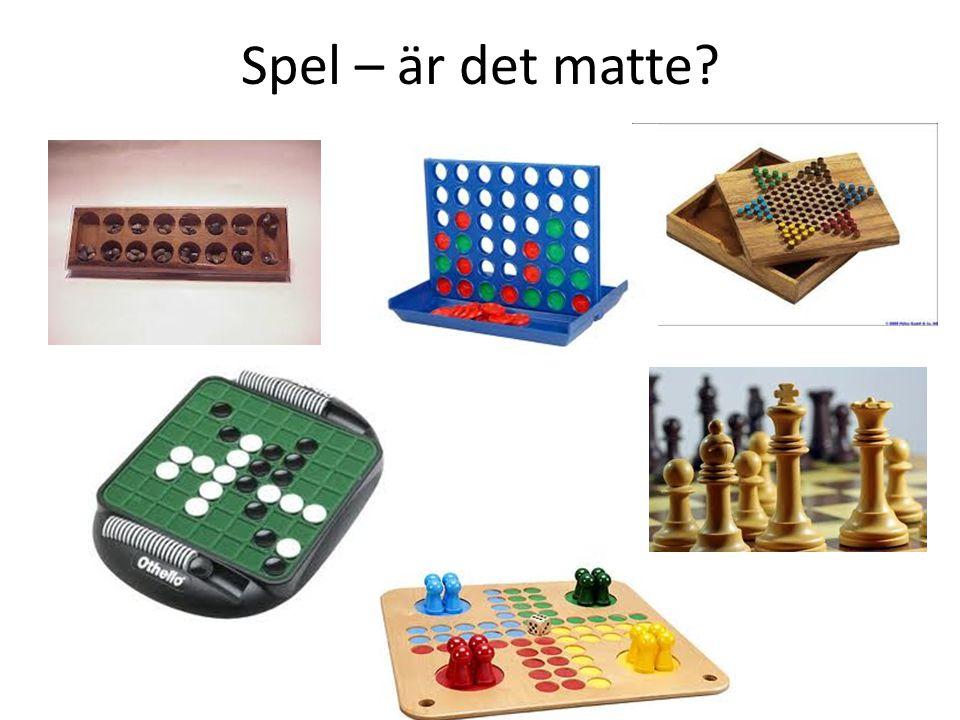 Spel – är det matte