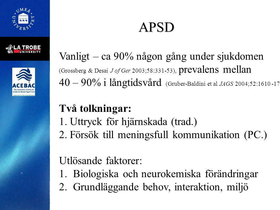 APSD Vanligt – ca 90% någon gång under sjukdomen