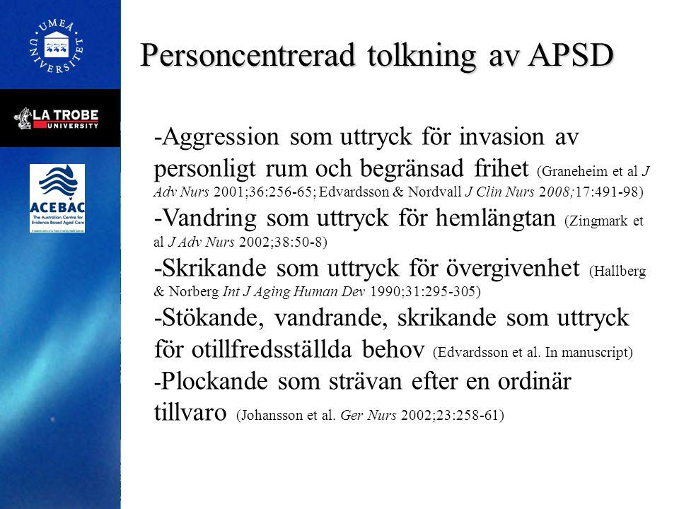 Personcentrerad tolkning av APSD