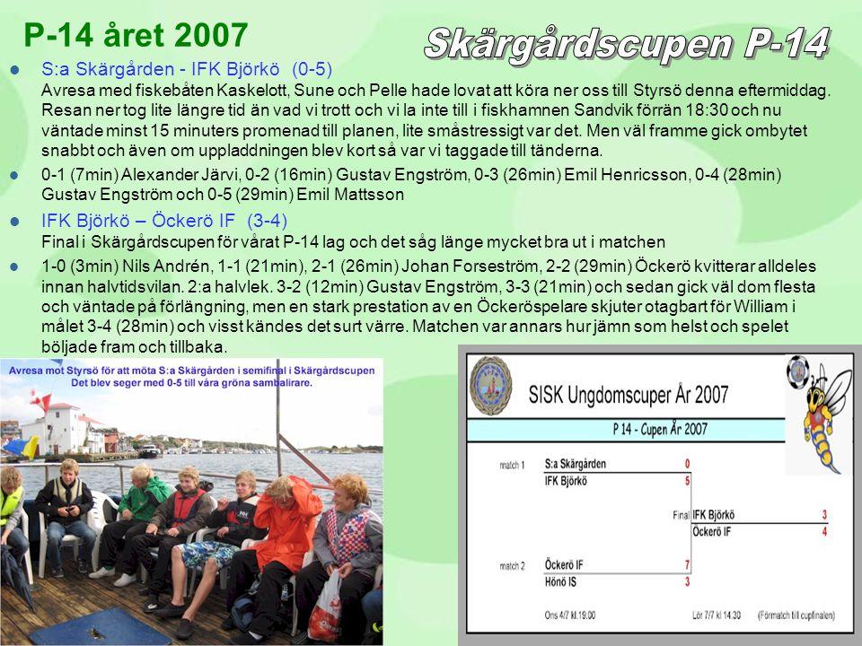 Skärgårdscupen P-14 P-14 året 2007