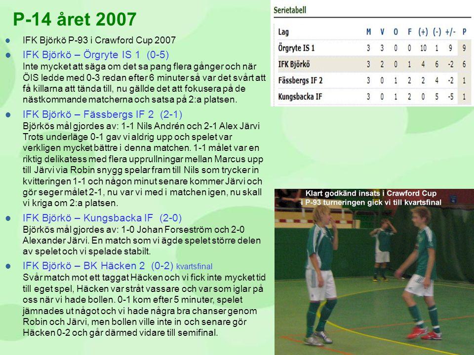 P-14 året 2007 IFK Björkö P-93 i Crawford Cup 2007.