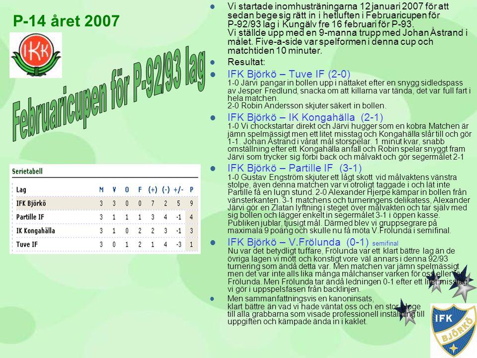 Februaricupen för P-92/93 lag