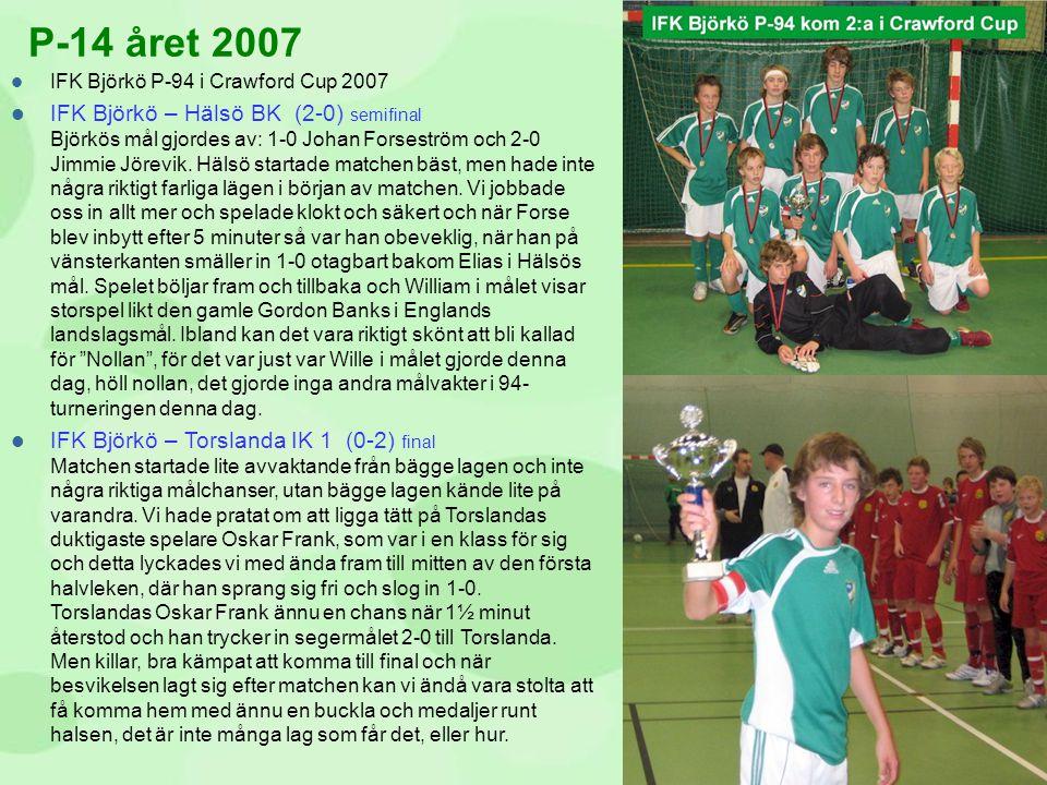 P-14 året 2007 IFK Björkö P-94 i Crawford Cup 2007.