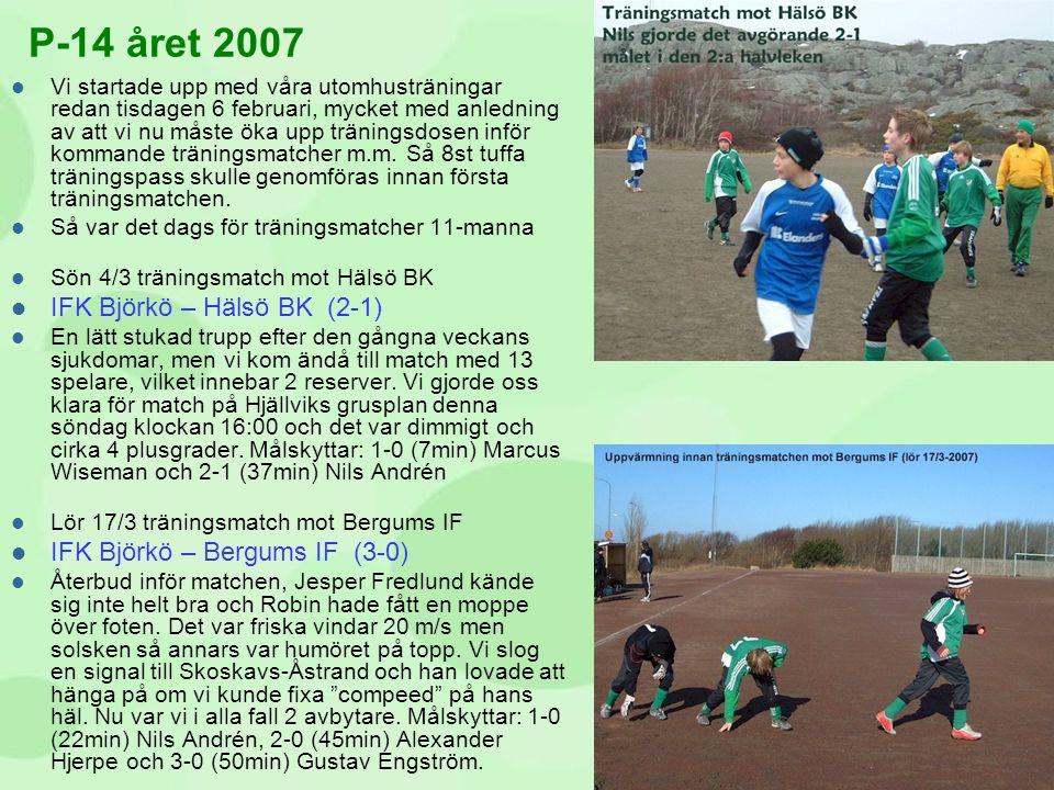 P-14 året 2007 IFK Björkö – Hälsö BK (2-1)