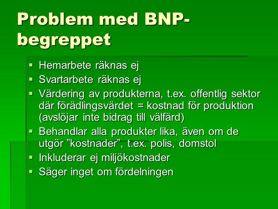 Problem med BNP-begreppet