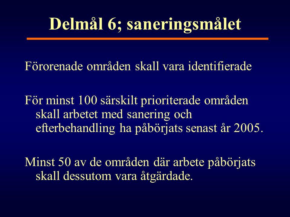 Delmål 6; saneringsmålet