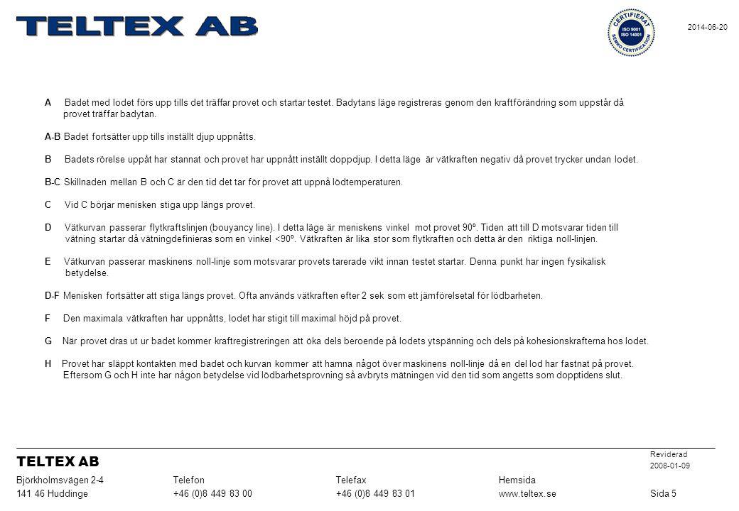 TELTEX AB Sida 5 www.teltex.se +46 (0)8 449 83 01 +46 (0)8 449 83 00
