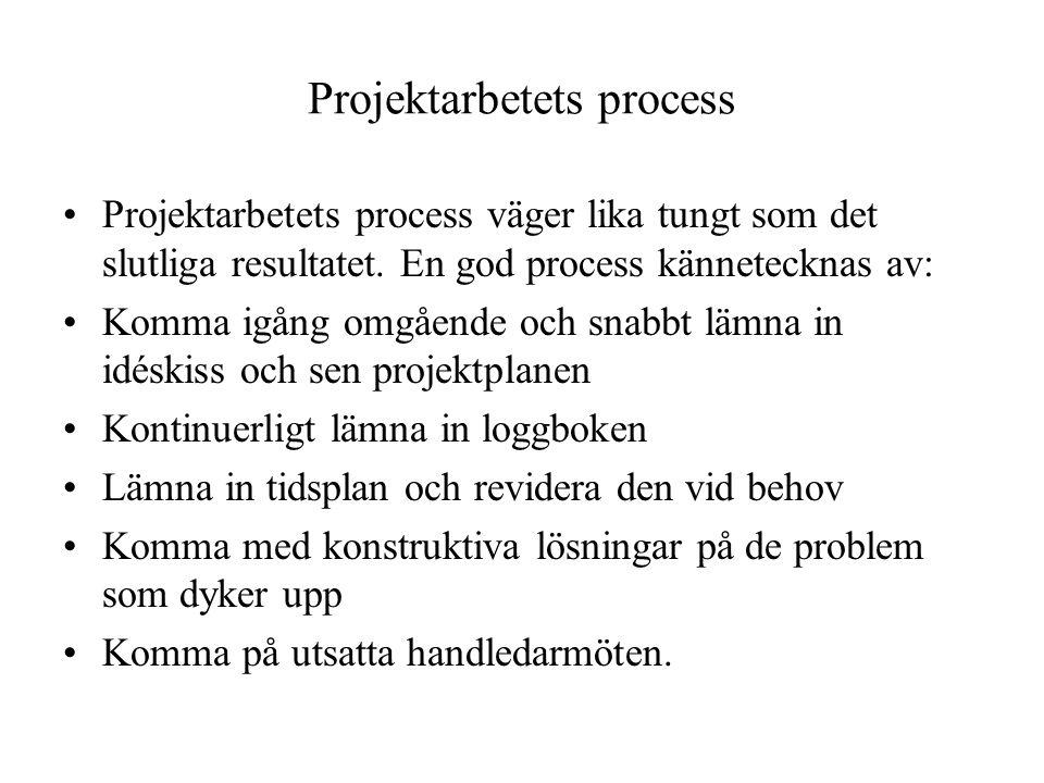 Projektarbetets process