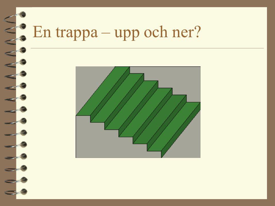 En trappa – upp och ner