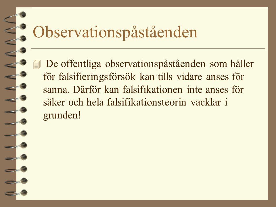 Observationspåståenden