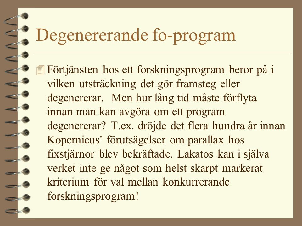 Degenererande fo-program