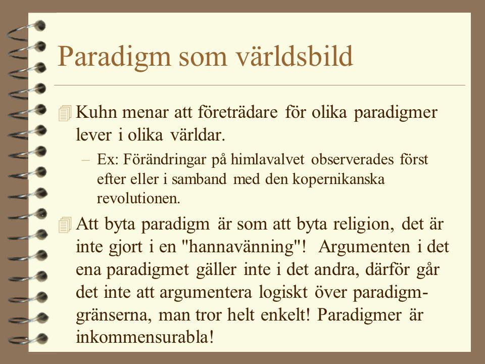 Paradigm som världsbild