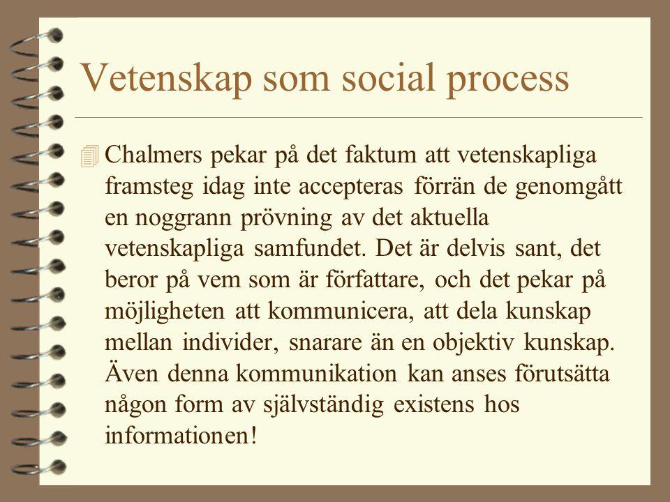 Vetenskap som social process
